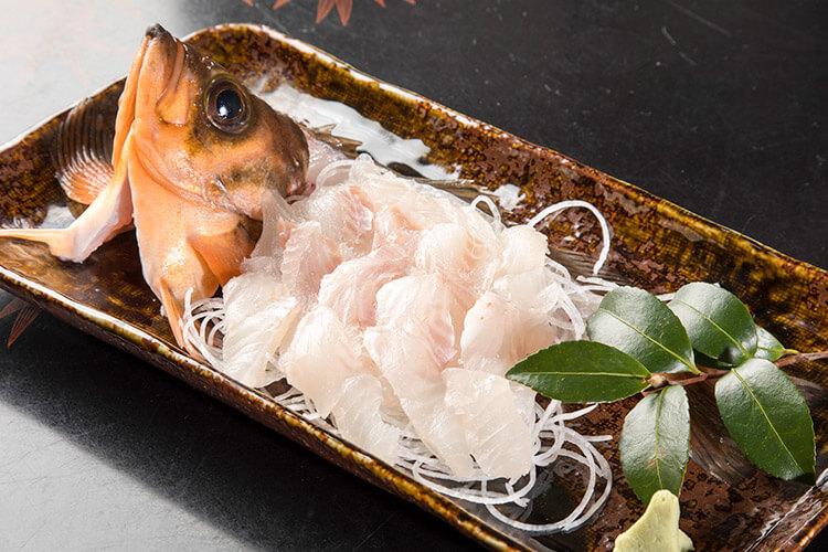 Cape Tappi Gold Rockfish sashimi