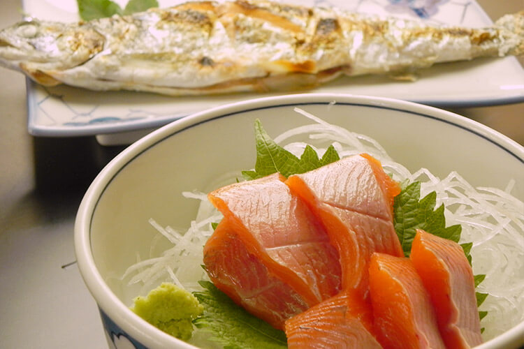 Lake Towada Himemasu (Kokanee Salmon) sashimi