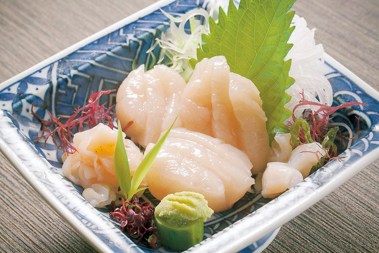 Sea Scallops sashimi