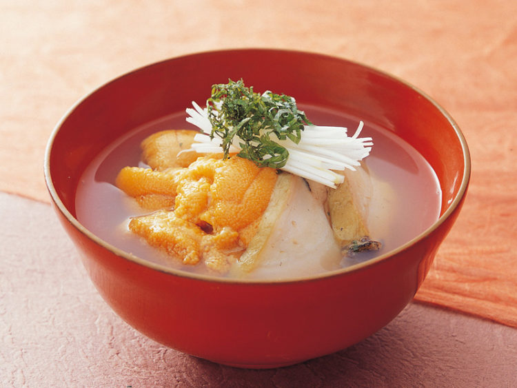 """Ichigo-ni"" Urchin and Abalone Soup"