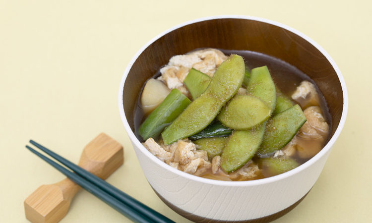 Plenty Beans, Miso Soup with Lots of Ingredients